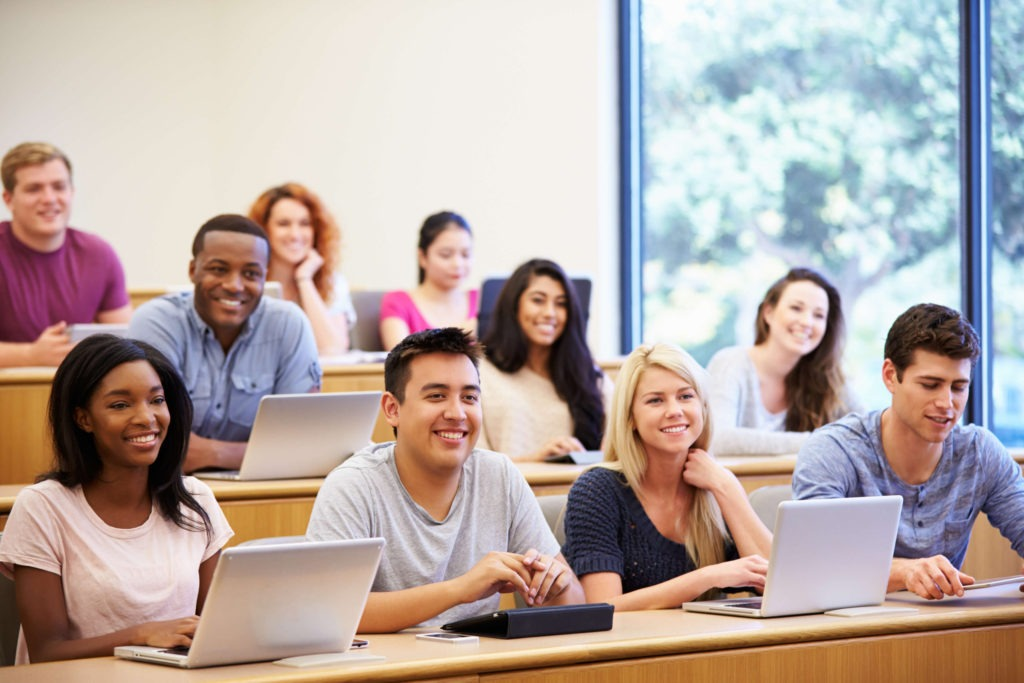 Students in a class
